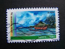 OBLITERE FRANCE ANNEE 2011 N° 644 SERIE DU CARNET OUTRE MER MAYOTTE AUTOCOLLANT ADHESIF - France