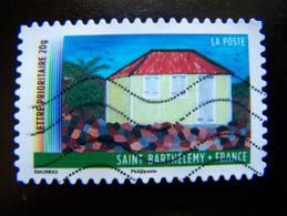 OBLITERE FRANCE ANNEE 2011 N° 645 SERIE DU CARNET OUTRE MER SAINT ST BARTHELEMY AUTOCOLLANT ADHESIF - France