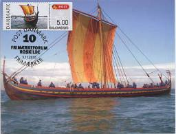 DENMARK (2010) - Tarjeta Máxima / Maximum Card ATM ROSKILDE FRIEMARKENFORUM - Bateau Viking / Viking Ship - Sea Stallion - Cartoline Maximum