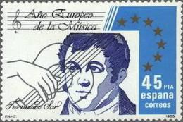 España 1985 Edifil 2805 Sello ** Año Europeo De La Musica Fernando Sor Yvert2423 Scott2444 Spain Stamps Espagne Timbre - 1931-Aujourd'hui: II. République - ....Juan Carlos I