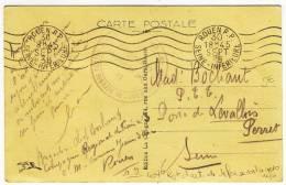 "FRANCHISE MILITAIRE  -  "" 407° REGt D'ARTie DE DEFENSE CONTRE AERONEFS - 3° GROUPE ""  -  1938 - Sellos Militares Desde 1900 (fuera De La Guerra)"