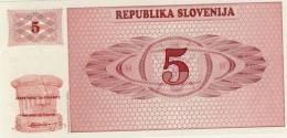 BILLET DE SLOVENIE # 5 TOLARS  # CINQ TOLARS  #  AH 90077045 # 1990 - Slovénie