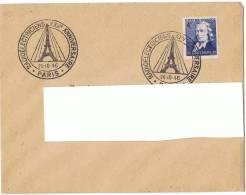 26/10/1946 -Lettre Enveloppe - 25 ème Anniversaire Radioélectriciens - +  Yvert Et Tellier Chappe N° 619 - Cachets Commémoratifs