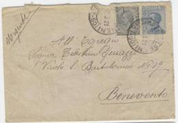 7.3.1921 Cava Dei Tirreni  - Bollo Frazionario 57-60 - Storia Postale