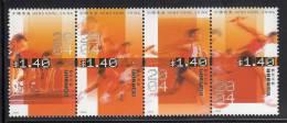 Hong Kong MNH Scott #1104 Strip Of 4 Different $1.40 Relay Race - Sports - Neufs