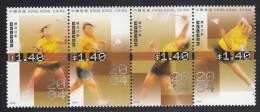 Hong Kong MNH Scott #1108 Strip Of 4 Different $1.40 Badminton - Sports - Neufs