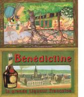 Menu Publicitaire  Benedictine 1er Aout 1925 Brasserie Du Jura à Dijon Format Deplie 19x15.5 - Menus
