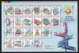 Hong Kong MNH Scott #1083 Souvenir Sheet Of 21 Different $1.40 Landmarks - 2004 Hong Kong Stamp Expo - Neufs