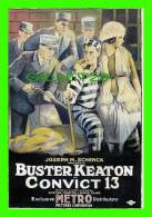 POSTERS ON CARDS - BUSTER KEATON IN CONVICT 13 - - Affiches Sur Carte