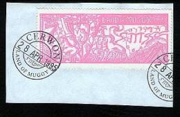 Land Of Muggy First Issue 7 Essra Stamp Cancelled On Piece 1995 - Cinderellas