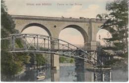 Görlitz Goerlitz Saxony Germany, Railroad Bridge Over Neisse River, C1900s Vintage Postcard - Goerlitz