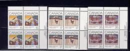 CANADA, 1980, # 870-1-2, CHRISTMAS-- GREETINGS CARDS   MNH     SET OF BLOCKS  UR - Blocs-feuillets