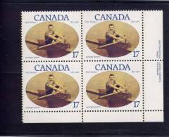 CANADA, 1980, # 862,  NED HANLAN OARSMAN      BLOCK LR  MNH - Blocs-feuillets