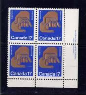 CANADA, 1980, # 856,  HELPING HANDS: 14TH WORLD CONGRESS Of REHABILITATION INTERNATIONAL  BLOCK  MNH - Blocs-feuillets