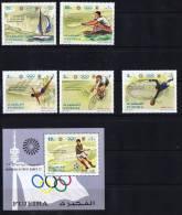 1971  Jeux Olympiques De Munich Voile, Aviron, Plongeon, Cyclisme, Football Michel 748-53 Bloc 71A * - Fujeira