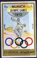 1972 Jeux Olympiques De Miunich Lancer Du Disque Michel 882 * - Fujeira
