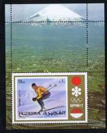 1972 Jeux Olympiques De Sapporo  Médaillée D'or Marie-Thérèse Nadig Ski  Michel Bloc 90A 8 * - Fujeira