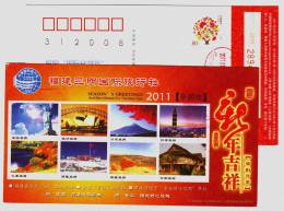 Statue Of Liberty,Sydney Opera House,Mount Fuji,Taipei 101,Potala Palace,CN11 Sanming Toursim Agency Pre-stamped Card - Bridges