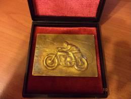 FRANCORCHAMPS - Plaque En Métal - Grand Prix Vitesse Moto 3 Juillet 1955 - Belgique