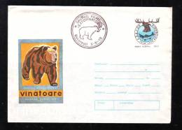 BEARS,OURS 1978 COVER STATIONERY ENTIER POSTAL RARE OBLITERATION ! ROMANIA. - Ours