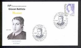 ITALY ITALIA 2010. SPECIAL POSTMARK. IV CENTENARY OF BIRTH GIOVAN BATTISTA NICOLOSI. Paterno (Italy) - Beroemde Personen