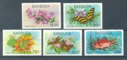 MR697 FAUNA VISSEN VLINDERS BLOEMEN FLORA FISH BUTTERFLIES FLOWERS BARBUDA 1978 PF/MNH # - Antigua En Barbuda (1981-...)