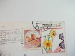 STORIA POSTALE Cartolina Con Etichetta  Prevenzione Tubercolare Tbc  Sacro Monte Di Varallo Vc Costumi Donne - 6. 1946-.. Repubblica