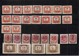 HONGRIE   -  Joli Lot De 38 Timbres Oblitérés (Taxes Porto Et Autres) - Collections