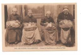 Groupe De Dentellières Avec Coiffures Du Velay--(Réf.3332) - Le Puy En Velay