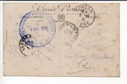 """1916 - Cachet  """"103éme Régiment Artillerie Lourde De Vernon 27 """" En Franchise Militaire Sur CP De Vernon - WW I"""