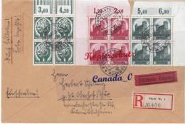 BG - 2  - R./ EIL _-Brief V. Fürth N. Oberhof/Thür.,   3 4er Blocks Erd Oben 8.9.34  So-O Nbg Reichsparteitag - Covers & Documents