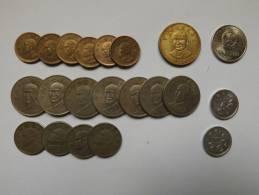 PIECE - ASIE - CHINE - TAIWAN - JAPON - SINGAPOR - INDONESIE - DIFFERENTES DATES - LOT DE 55 PIECES - Monedas & Billetes