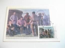 STORIA POSTALE Cartolina Maximum U.r.s.s. 1987 Pittura Contadini - Maximum Cards
