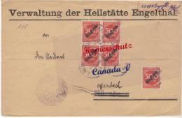 BG - 2  - Brief V,.Heilstätte Engelthal N. Offenbach 39.1922  Marken + Geb.bez. 55.000 - Covers & Documents