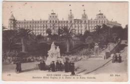 CPA NICE ANIMEE, EXCELSIOR HOTEL REGINA ET LA STATUE DE LA REINE VICTORIA, ALPES MARITIMES 06 - Cafés, Hotels, Restaurants