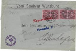 BG - 2  - Bief V. Stadtrat Würzburg N Germeinderat -Berufsvormudschaft Offenbach  5.12.22  D 67 MeF - Covers & Documents
