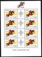 JO 90 - POLOGNE N° 1616/23 En Feuillets De 8 Avec Logo Neufs Hippisme - Boxe - Atrhlétisme - Verano 1968: México