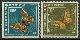 AFARS ET ISSAS 1976 - Papillon Butterfly Schmetterling Mariposa - Neuf Sans Charniere (Yvert 420/21) - Unclassified