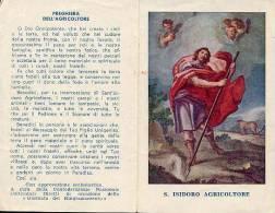 Santino Depliant SAN ISIDORO AGRICOLTORE - BUONO E86 - Religione & Esoterismo