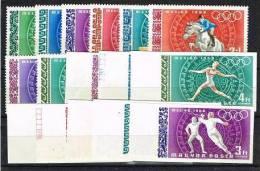 JO 97 - HONGRIE PA 301/08 D + ND + BF 71 D + ND Neufs** Jeux Olympiques De Mexico 1968 - Ongebruikt
