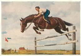"""USSR 1954. PAINTING. K.D.KITAYKA. """"Taken BARRIER Sport Master Kondratyev"""" - Russie"""