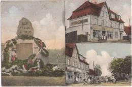 VELGAST Colonialwaren Von M Ewert Kriegerdenkmal 1914 - 1918 Color Bahnpost STRALSUND ROSTOCK ZUG 282 Glasklar 30.1.1928 - Stralsund