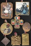 LOT #3  INSIGNE JOURNEE GRANDE GUERRE PATRIOTISME FRANCE POILU VICTOIRE ALLIES  PROPAGANDE - 1914-18