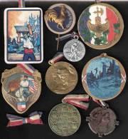 LOT #4  INSIGNE JOURNEE GRANDE GUERRE PATRIOTISME FRANCE POILU VICTOIRE ALLIES  PROPAGANDE - 1914-18