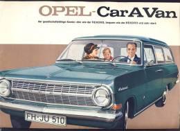 CAR  CARS  OPEL CARAVAN    ADVERTISING  PROSPECT      1960´es - KFZ