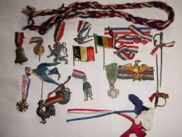 LOT #7  INSIGNE JOURNEE GRANDE GUERRE PATRIOTISME FRANCE POILU VICTOIRE ALLIES  PROPAGANDE - 1914-18