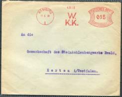 1930 Germany Hamburg Westfalisches Kohlen-Kontor Freistempel Briefe - Alemania