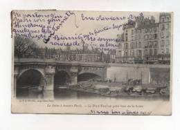 CPA 75 :  PARIS  Pont Neuf Animé Avec Péniche  1905  A    VOIR     !!!! - France