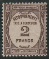 FRANCIA 1927/31 - Yvert #62 (Taxas) - * MLH - Fiscaux