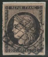 FRANCIA 1849 - Yvert #3 - VFU - 1849-1850 Cérès